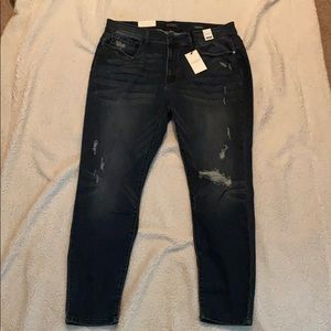 Judy Blue Skinny Fit Mid Rise Distressed Jean